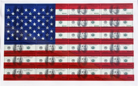 100 us flag by steven gagnon