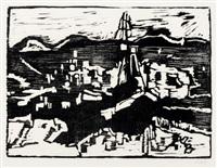das meer (portfolio of 6 w/text and poems by johannes r. becher) by otto niemeyer-holstein