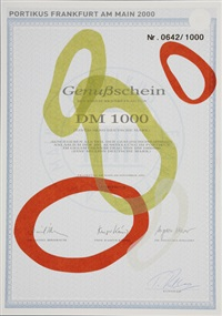 genußschein portikus by tobias rehberger