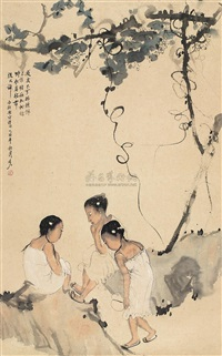 葡萄藤下 (the grapevine under) by lei ziren