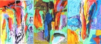 bevidsthedens have (garden of consciousness) (triptych) by rolf gjedsted
