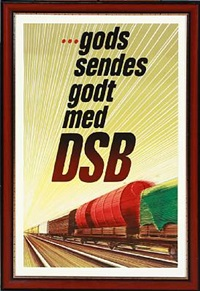 three dsb posters by aage rasmussen