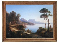 the amalfi coast by johann georg gmelin
