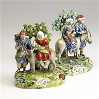 flight into egypt (+ return to egypt; pair) by staffordshire