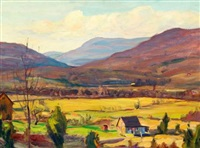 california landscape (+ another, similar; 2 works) by helen newton