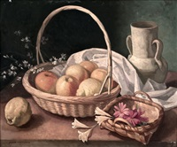 bodegón con limones y jazmines by juan antonio rodriguez hernandez