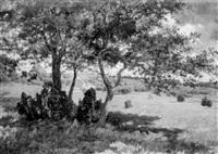 im schatten einer baumgruppe by margarethe (clara) von reinken
