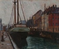 view from christianhavn by immanuel ibsen