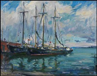schooners, sydney, ns by manly edward macdonald