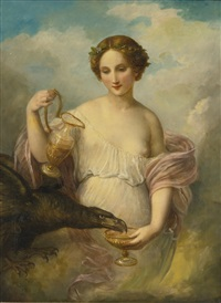 psyche and the eagle of zeus by natale schiavoni