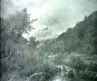 engelskt landskap med back och vilande kor by james ward