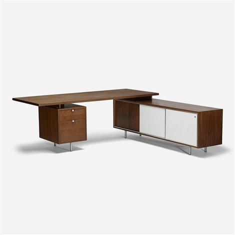 Executive Office Desk And Return By George Nelson Ociates