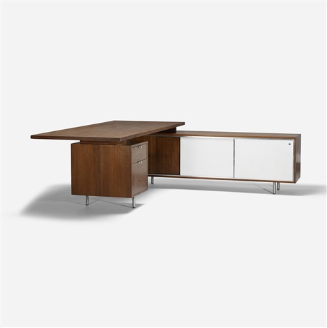 Executive Office Desk And Return By George Nelson Associates On