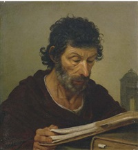 apostolo che legge by le nain brothers