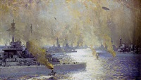 the german fleet after surrender - firth of forth 21 november 1918 by james patterson