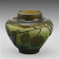 miniature vase by émile gallé