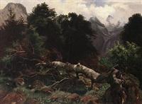 sommertag in den alpen mit prachtvoller naturschilderung by august hoerter