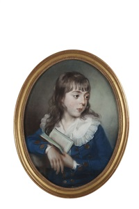 Portrait of a young boy with book, 1785