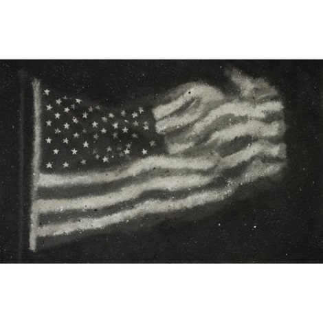 america flag no2 by zhang huan