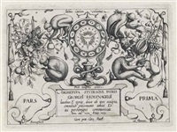 archetypa studiaque patris georgio hoefnaglii (4 sets of 12 works, 48 works in total) by joris (george) hoefnagel