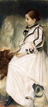 la petite fille aux chiens by jacques emile blanche