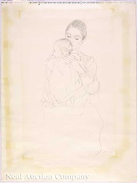 mother and child by henry casselli