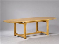oval dining table by lars de place bjorn