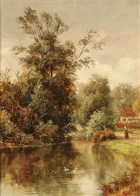 the duck pond by william henry waring