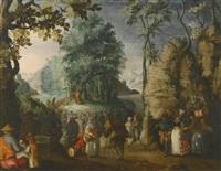 saint john the baptist preaching in the wilderness by david vinckboons