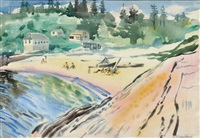 beach at bay point, maine by william zorach