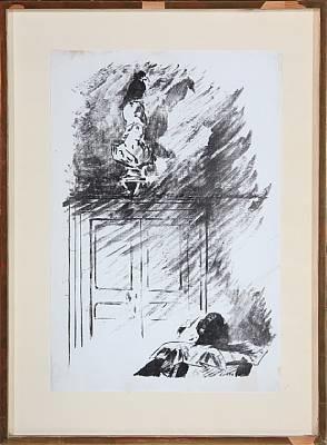 le corbeau sur la buste de pallas by édouard manet