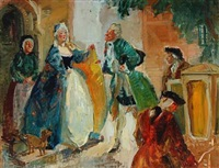 scene from henrik og pernille by ludvig holberg by ludvig jacobsen