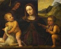 maria mit den christus- und johannesknaben by bernardino luini