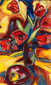 große rote tulpen by maria von heider-schweinitz
