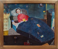 woman in bed by dora holzhandler