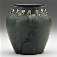 vase in matte green glaze by rhead
