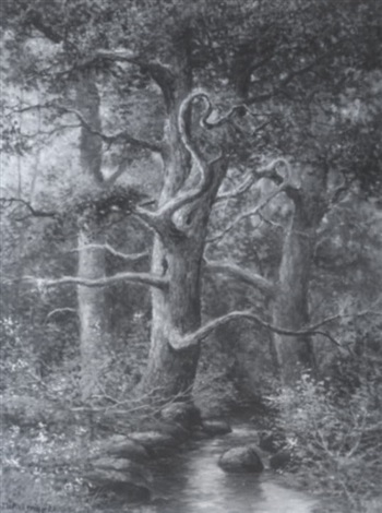 stream through a forest by joseph langsdale pickering