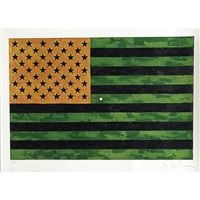 flag (moratorium) (2 works) by jasper johns