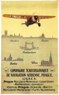 compagnie tchecoslovaque de navigation aerienne, prague by vilem kreibich
