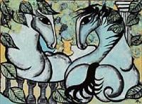 havens blå heste by vibeke alfelt