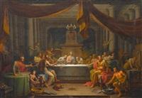 das gastmahl im haus des pharisäers simon by johann joseph anton huber