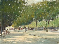 summer afternoon - champs-elysees by edward seago