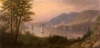 sunset landscape by american school-hudson river (19)