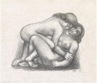 deux femmes s'étreigant by aristide maillol