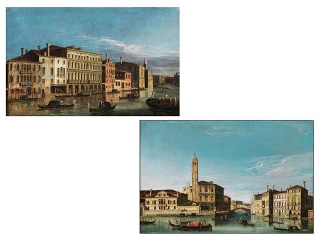 venezianische stadtansichten pair by francesco tironi
