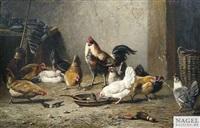 auf einem hühnerhof by bernard de gempt