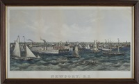 panoramic view of newport, rhode island by john perry newell