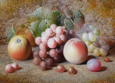 still life of fruit still life of fruit pair by charles archer