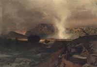 prachtvolle gebirgslandschaft mit malerischem lichteinfall bei abziehendem gewitter by rudolf huthsteiner