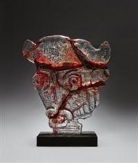 skulptur i form av tjurhuvud by edvin öhrström